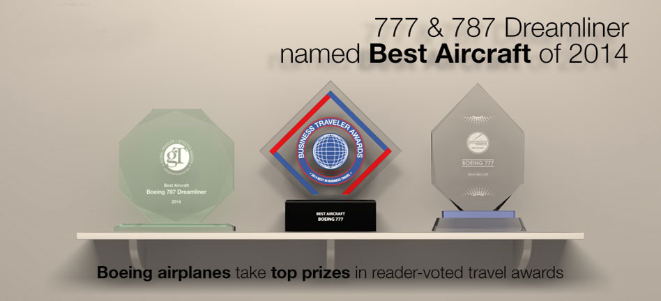 Boeing airplanes take top prizes in reader-voted travel awards